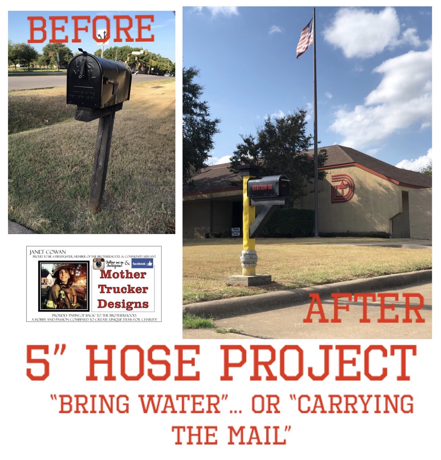 """5″ Fire Hose (part 2) – from """"Bring Water""""… to now literally… """"Carrying the Mail!"""