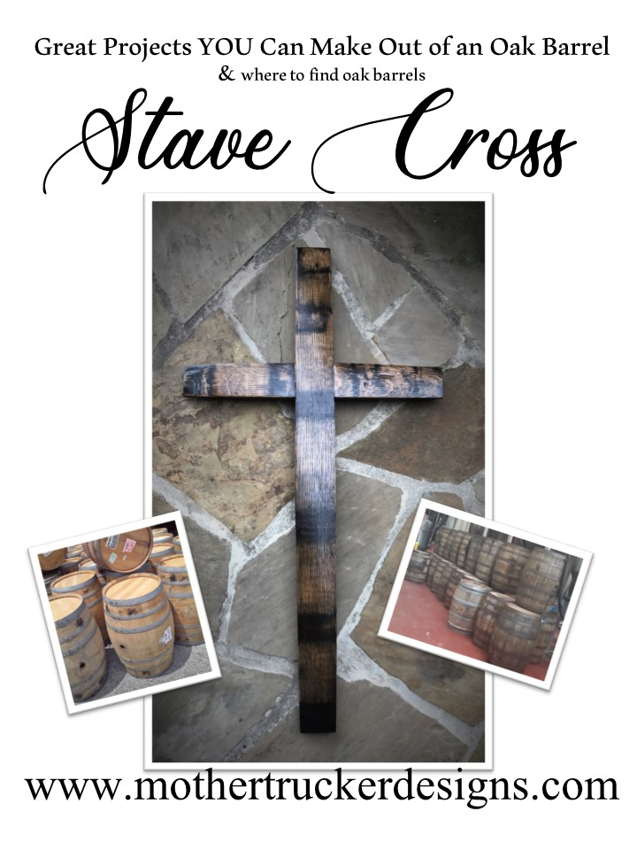 Stave Cross from a Oak Barrel