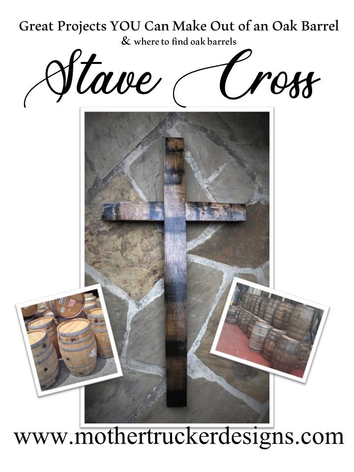 Stave Cross from a Oak Barrel