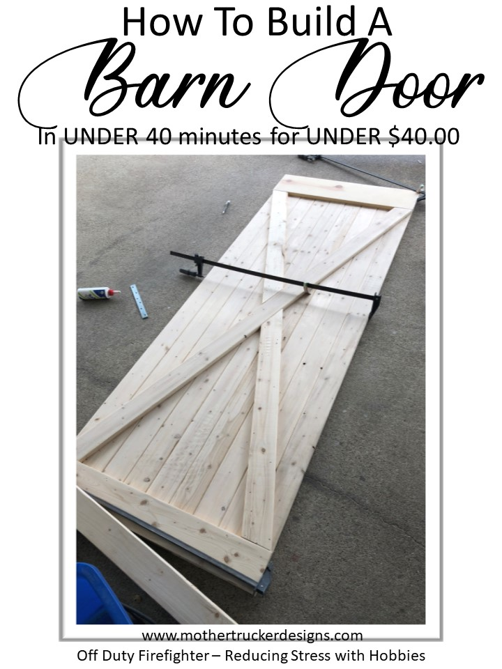Easy Farmhouse Rustic Barn Door