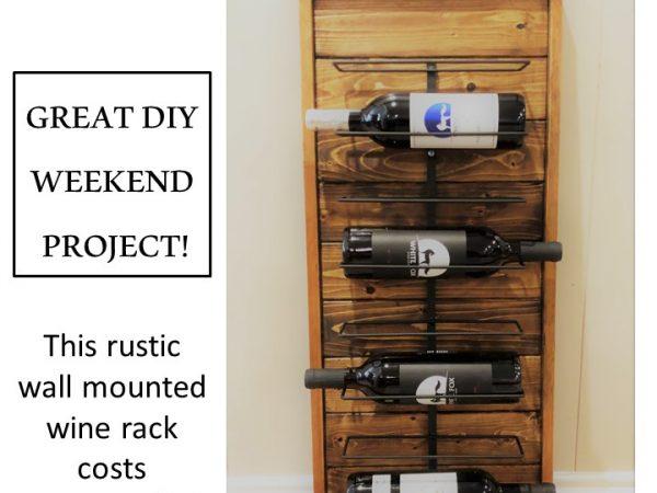 Rustic Wine Rack From Scrap Wood