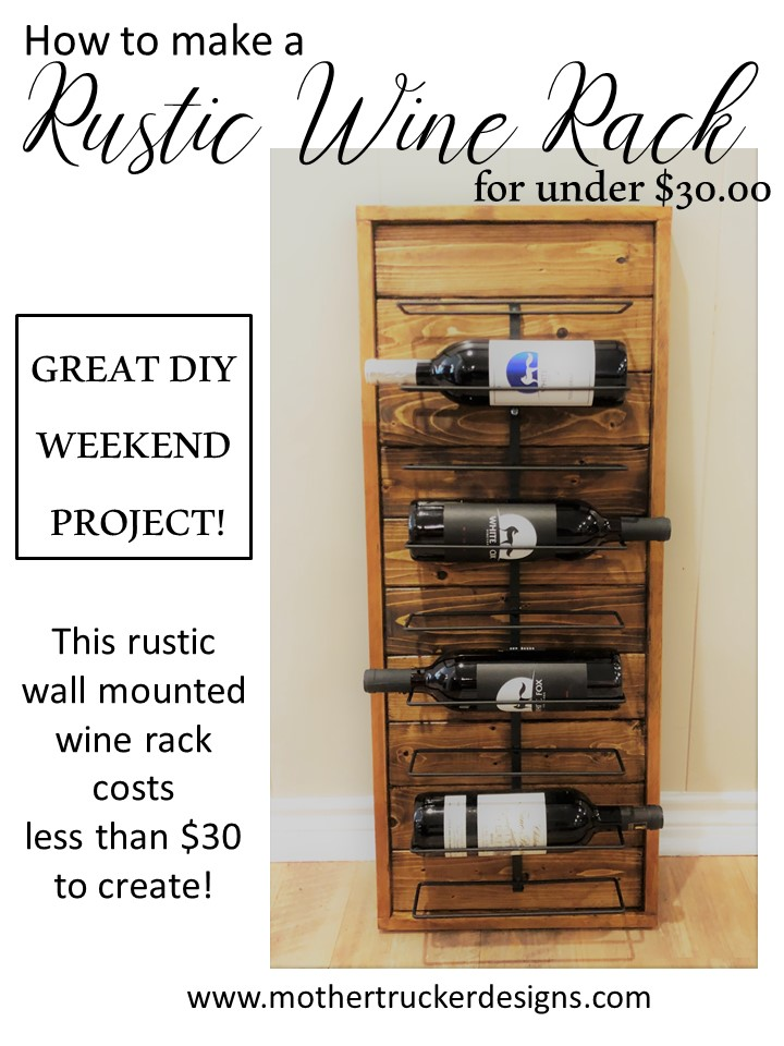 Rustic Wine Rack From Scrap Wood