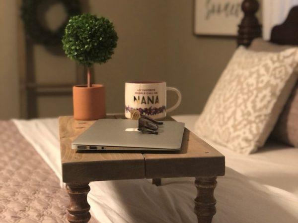 Rustic Wood Bed Tray DIY