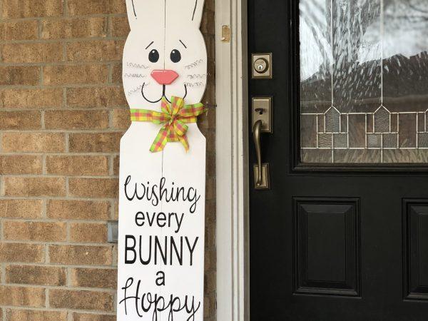 Easter Bunny Porch Decor