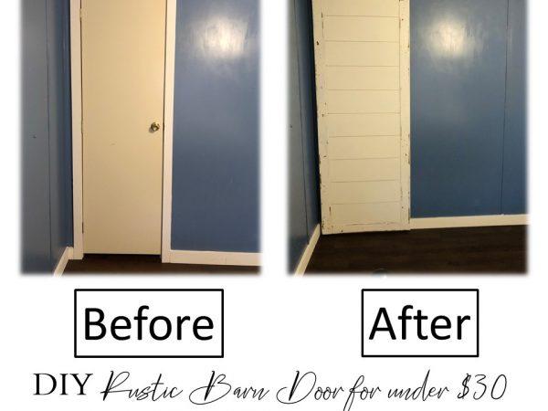 Inexpensive DIY Rustic Barn Door