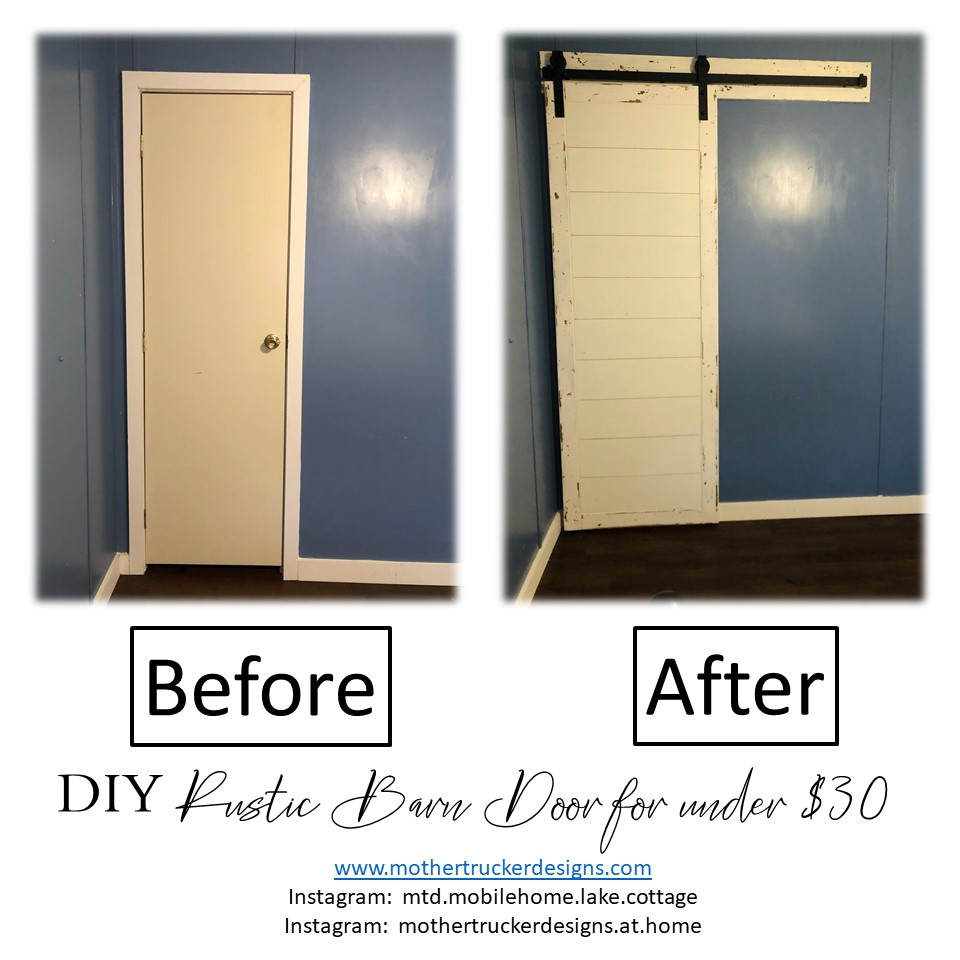 Inexpensive DIY Rustic Barn Door