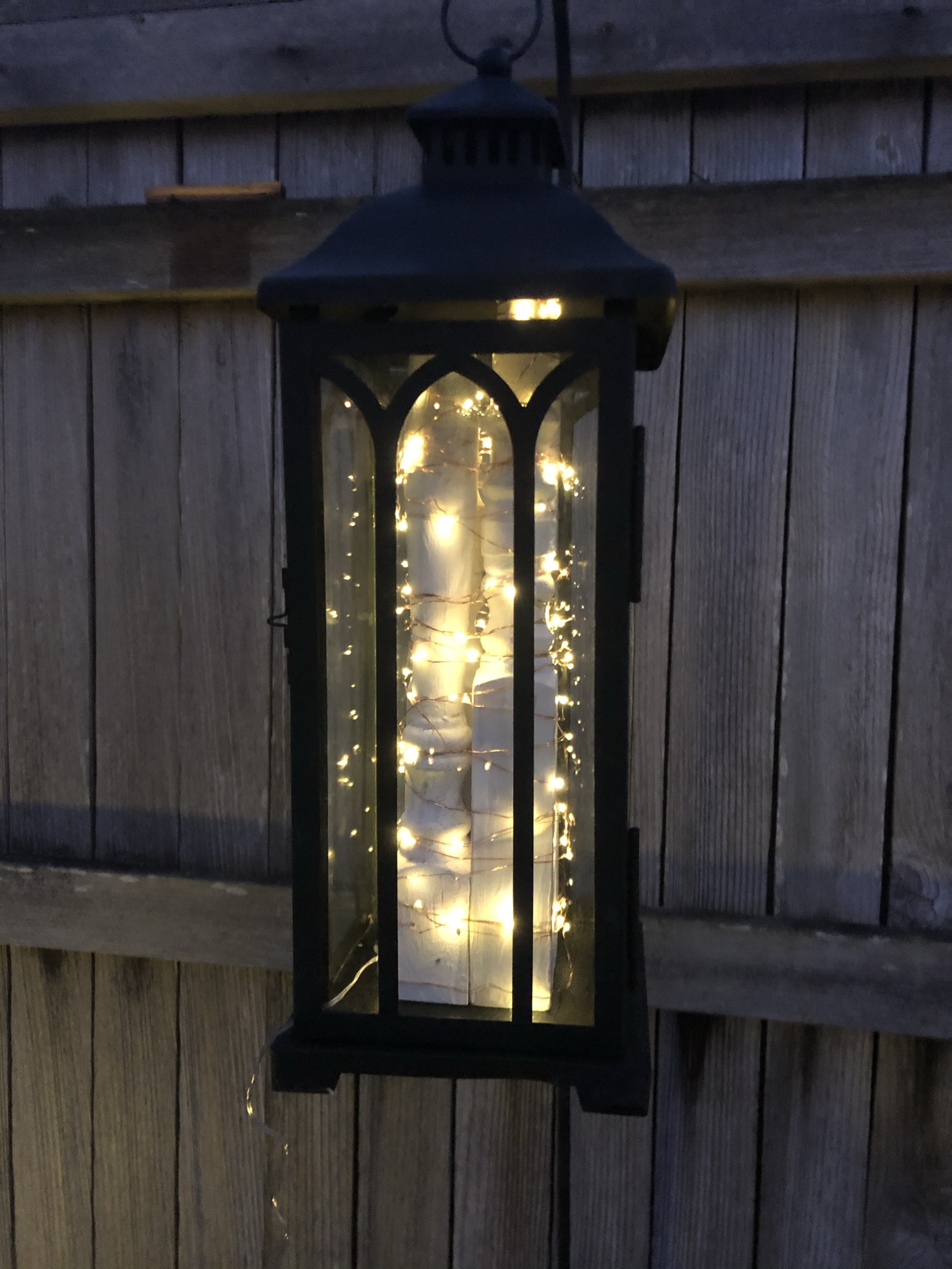 Solar Lantern Lighting and Chippy Spindles